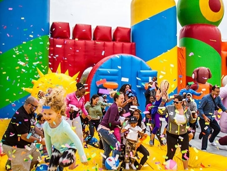 World's Biggest Bounce House Takes over Tampa!